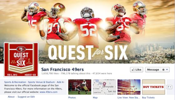 49ers Facebook
